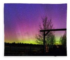Gateway To The Aurora Fleece Blanket