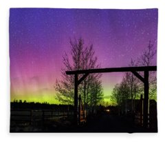 Gateway To The Aurora Fleece Blanket