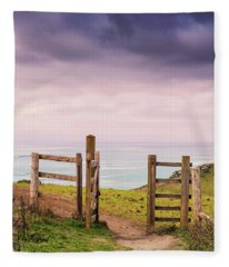 Gateway To The Coast Fleece Blanket