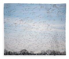 Geese In The Flyway Fleece Blanket