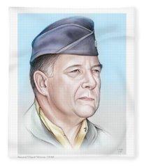 General Chuck Horner - Color Fleece Blanket
