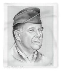General Chuck Horner Fleece Blanket