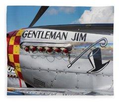 Gentleman Jim On The Ramp Fleece Blanket