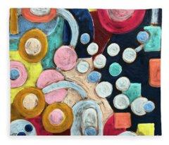 Geometric Abstract 3 Fleece Blanket