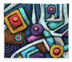 Geometric Abstract 6 Fleece Blanket