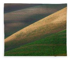 Geometric Field Abstract Fleece Blanket