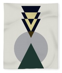 Geometric Painting 16 Fleece Blanket