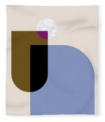 Geometric Painting 4 Fleece Blanket