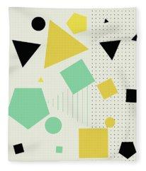 Geometric Painting 7  Fleece Blanket