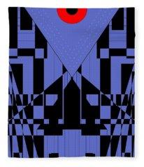 Geometric Red Dot  Fleece Blanket