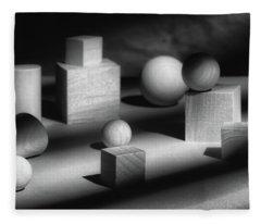 Geometric Shapes Fleece Blanket