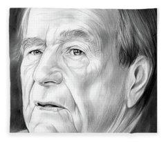 George Hw Bush 1924 - 2018 Fleece Blanket