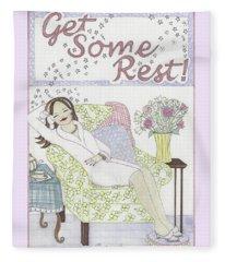 Get Some Rest Fleece Blanket