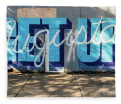 Get Up Augusta Ga Mural  Fleece Blanket