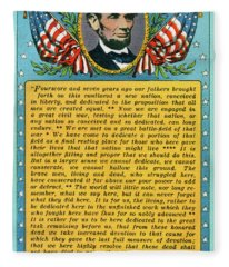 Gettysburg Address By Abraham Lincoln Fleece Blanket