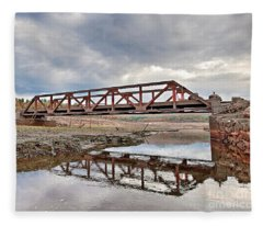 Ghost Bridge - Colebrook Reservoir Fleece Blanket