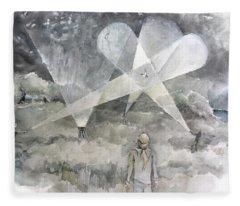 Ghostbusting The New Zealand Storm-petrel Fleece Blanket