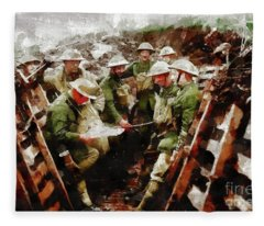 Ghosts Of World War One Fleece Blanket