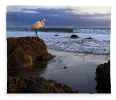 Giant Egret Fleece Blanket