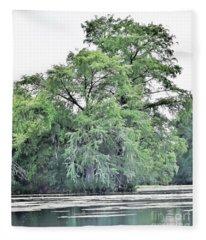Giant River Tree Fleece Blanket