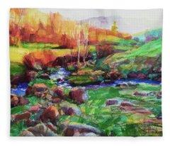 Gilded Hillside Fleece Blanket