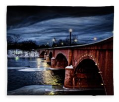 Gillett Bridge Grand Rapids Michigan Fleece Blanket