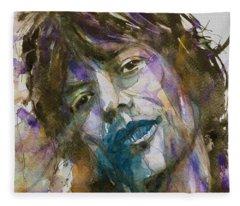 Gimme Shelter - Mick Jagger - Resize Crop  Fleece Blanket