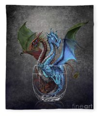 Gin And Tonic Dragon Fleece Blanket