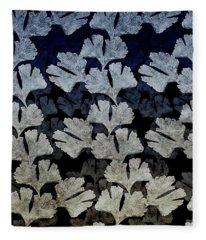 Ginko Leaf Pattern Fleece Blanket