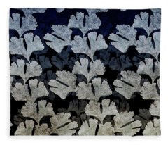 Ginko Leaf Pattern Fleece Blanket