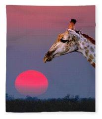 Giraffe Composite Fleece Blanket