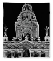 Giralda Tower In Monochrome. Seville Fleece Blanket