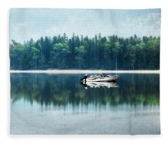Glacier National Park Lake Reflections Fleece Blanket