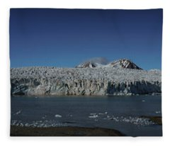 Glacier Svalbard Fleece Blanket
