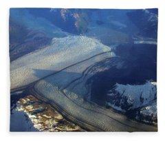 Glaciers Converge Fleece Blanket