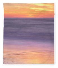 Fleece Blanket featuring the photograph Gleneden Beach Sunset by Whitney Goodey