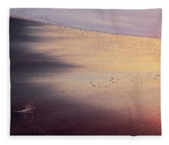 Fleece Blanket featuring the photograph Gleneden Glow by Whitney Goodey