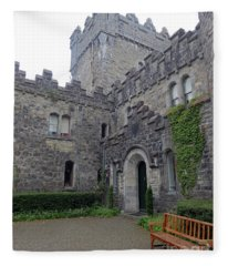 Glenveagh Castle Entrance Fleece Blanket