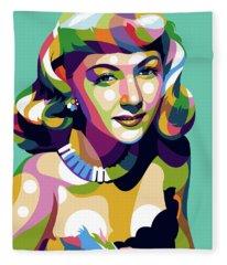 Gloria Graham Fleece Blanket