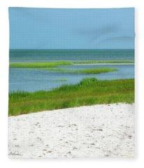 Glowing Beach Grasses Cape Cod Fleece Blanket