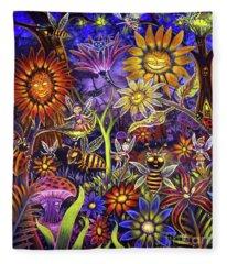 Glowing Fairy Forest Fleece Blanket
