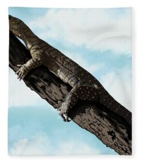Goanna 1 Fleece Blanket