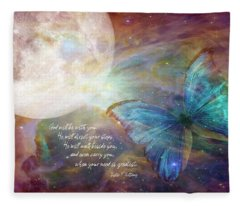 God Will Be With You Fleece Blanket