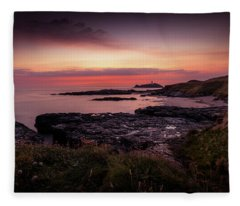 Godrevy Sunset - Cornwall Fleece Blanket