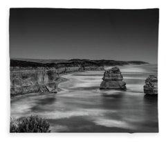 Gog And Magog At The Twelve Apostles Fleece Blanket