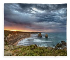 Fleece Blanket featuring the photograph Gog And Magog by Chris Cousins