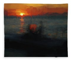 Going Fishin' Fleece Blanket