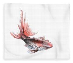 Gold Fish Fleece Blanket