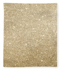Gold Glitter Fleece Blanket