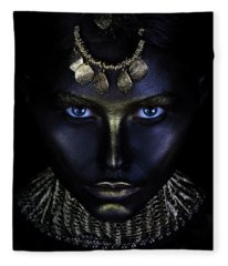 Gold Of Maya Fleece Blanket